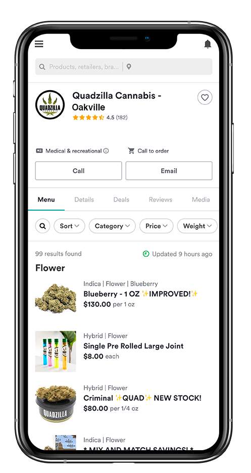 Weedmaps Oakville Cannabis Delivery
