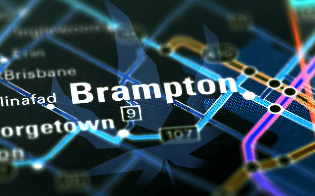 Brampton Weed Delivery Map